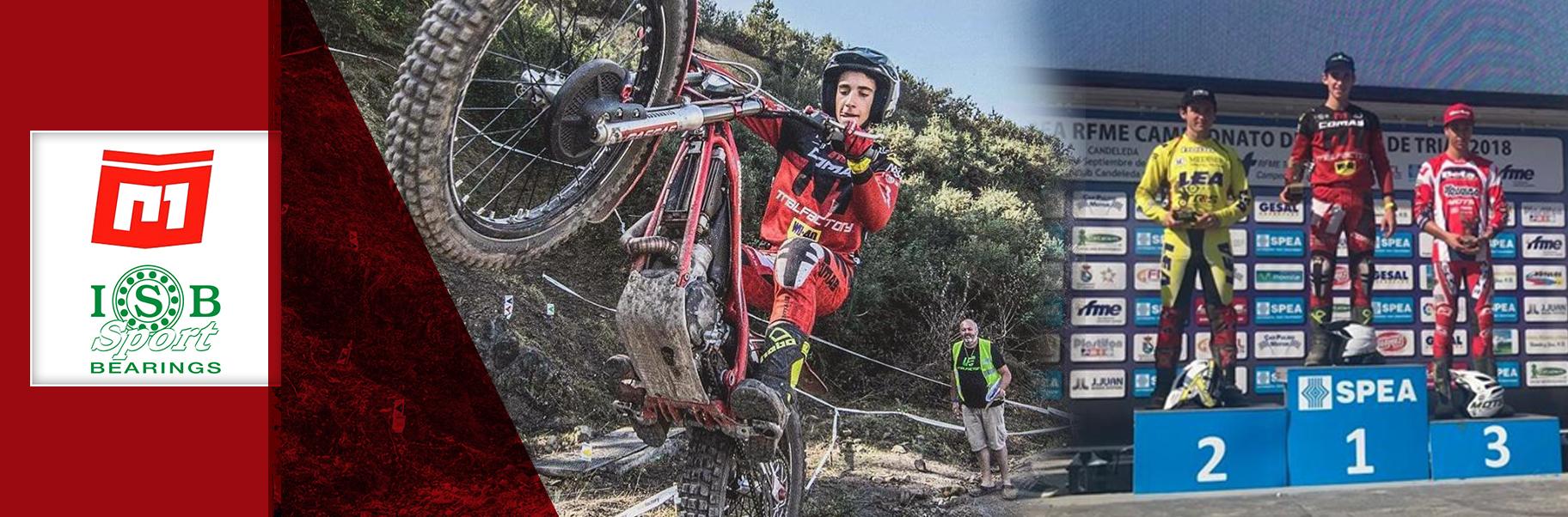 Cabecera Pablo Suarez Trial GP Comas Moto Trial ISB Sport 1º posicion